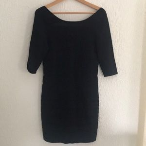 Black Stretch Fitted Dress